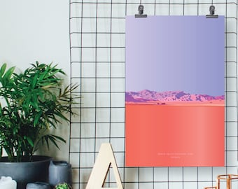 Death Valley National Park //  Geometric Illustration Art Print