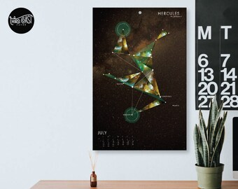 "2018 ""Stargazing"" Constellation Wall Calendar"