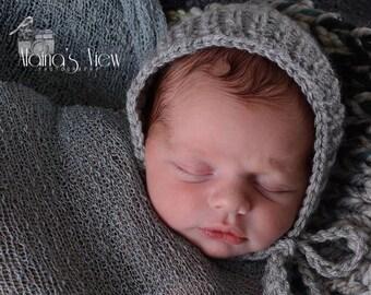 Newborn Bonnet,Knit Bonnet,Knit Baby Bonnet,Newborn Classic Bonnet,Newborn Photography Prop,Photo Prop,Knit Bonnet,Simple Ribbed Bonnet