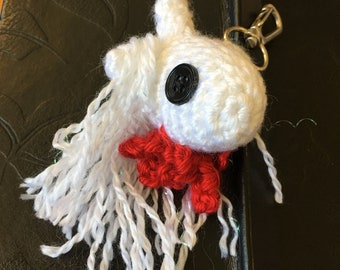 Decapitated Unicorn Head Keychain
