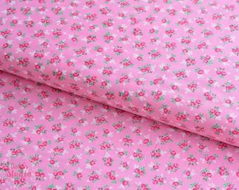 19,-   EUR/m Moda Guest Room Kristyne Czepuryk Baumwollstoff Blümchen Rosenstoff Millefleur Patchworkstoff Sweet Floral Pink
