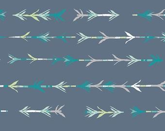 19,-   EUR/m Art Gallery Fabrics Baumwollstoff Patchworkstoff Bamboo Shoots in Cool Blue