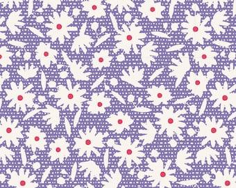 15,20 EUR/m Tilda Bon Voyage Paperflower Blue Baumwollstoff Blau, 0,25 m