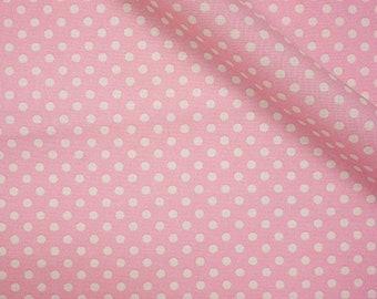 19,-   EUR/m Lecien Punktestoff Color Basics Baumwollstoff Rosa Polkadots