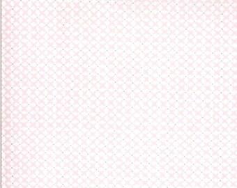 EUR19,40/m Moda Sophie Baumwollstoff Rosa Weiß, 0,25 m