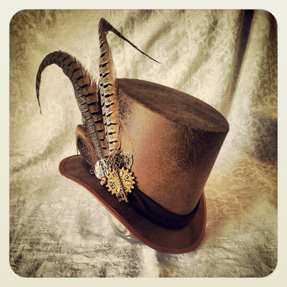 Steampunk Top hat Mad Hatter hat Steampunk Hat Tea Party  a9690c7339f