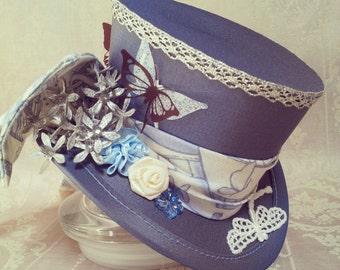 Tea Party hat, Garden Party hat, Steampunk Wedding, Wedding Fascinator, Lolita, Alice in Wonderland hat, Mini hat, Steampunk hat, Mad Hatter
