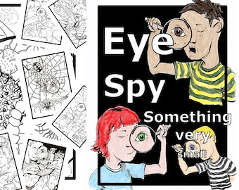 Eye Spy Something Very Small- A digital coloring book
