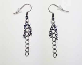 Recycled chains earrings