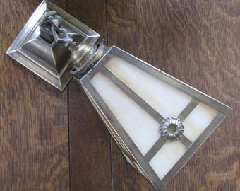 Vintage Arts and Crafts / Mission Brass Wall Sconces FREE SHIPPING to the USA & Canada