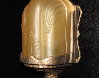 Vintage Art Deco Slip Shade Wall Sconce/ FREE SHIPPING to USA & Canada