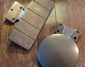 Vintage Industrial Solid Brass Door Pull Set / FREE SHIPPING to USA & Canada