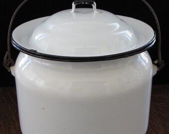 Vintage Porcelain Pot with Lid