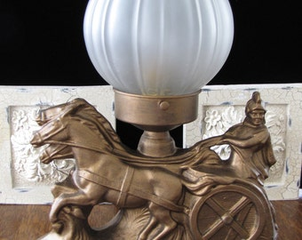 Vintage Art Deco Gladiator Lamp FREE SHIPPING to the USA & Canada