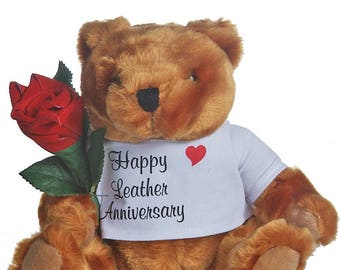 "3rd ""leather"" Anniversary Teddy Bear"