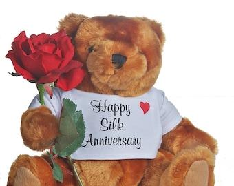 "12th ""silk"" Anniversary Teddy Bear"