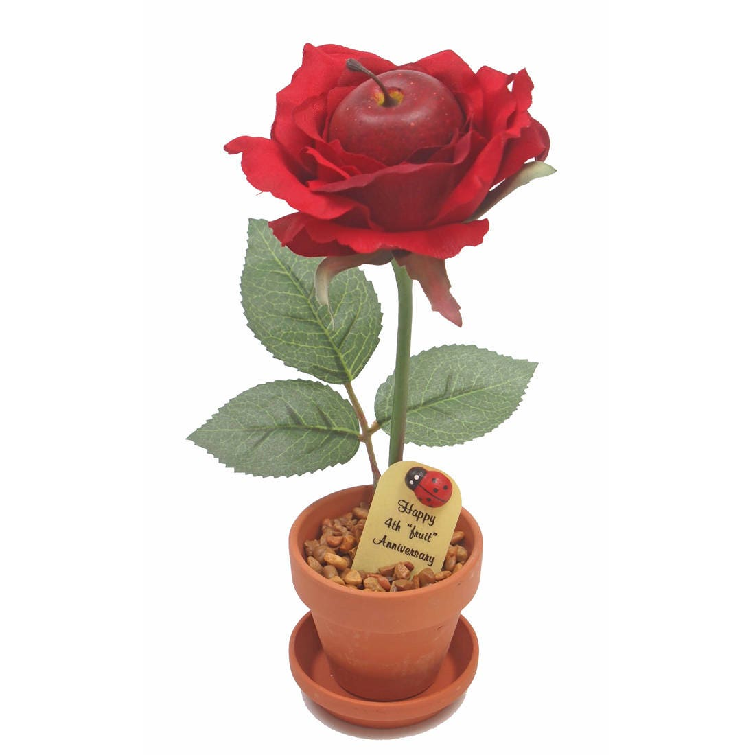 What Is 4th Wedding Anniversary Gift: 4th Anniversary Gift Fruit Rose