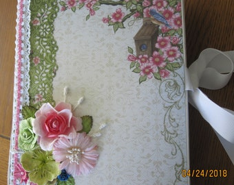 Birds and Blooms Album/Scrapbook