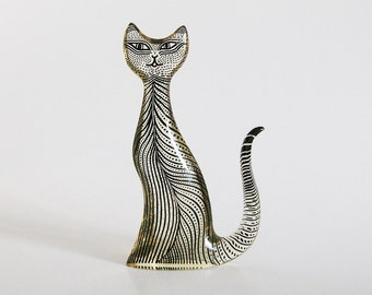 Abraham LARGE Palatnik Lucite Cat Figurine - 60s
