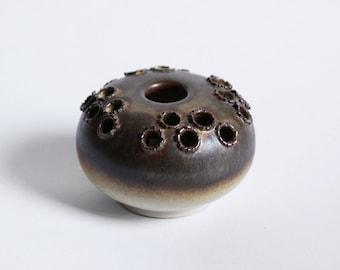 Danish Globe Brown Vase - 60s 70s