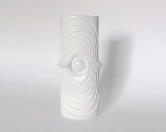 Vintage German Op Art Bisque Swing Vase - KPM