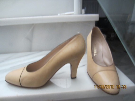 nude chanel shoes