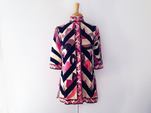 Emilio Pucci Iconic 1960s psychedelic print tunic