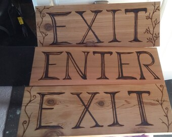 Commercial or residential open closed driveway parking lot enter and exit signs custom made to order