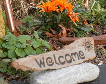 Welcome sign-driftwood hand lettered -custom orders available made to order ships in two days