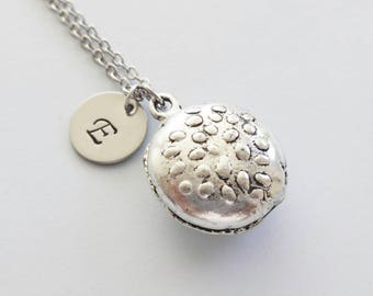 Hamburger Necklace, Cheeseburger, Burger Charm, Foodie, Sandwich, Fast Food, Silver Necklace, Personalized, Monogram, Hand Stamped Initial