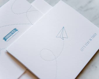 Let's Stay In Touch - Boxed Set of 6, letterpress greeting cards