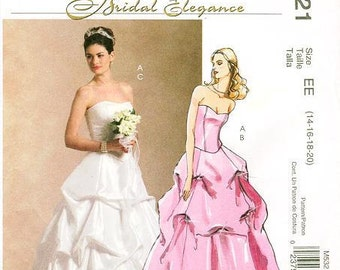 8eedaf16446 Sz 14 16 18 20 - McCall s M5321 - Misses  Strapless Top and Pick-Up Skirt  Bridal Gown or Prom Dress - Bridal Elegance