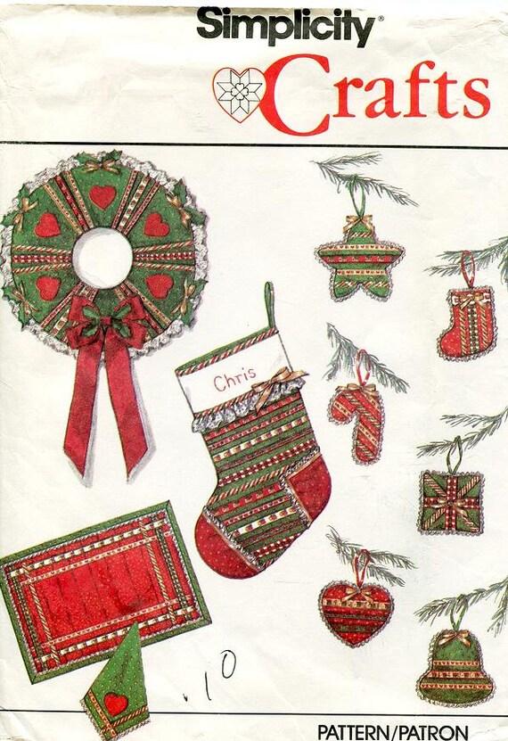 Einfachheit Weihnachtsschmuck Muster 9034 Kranz Stern | Etsy