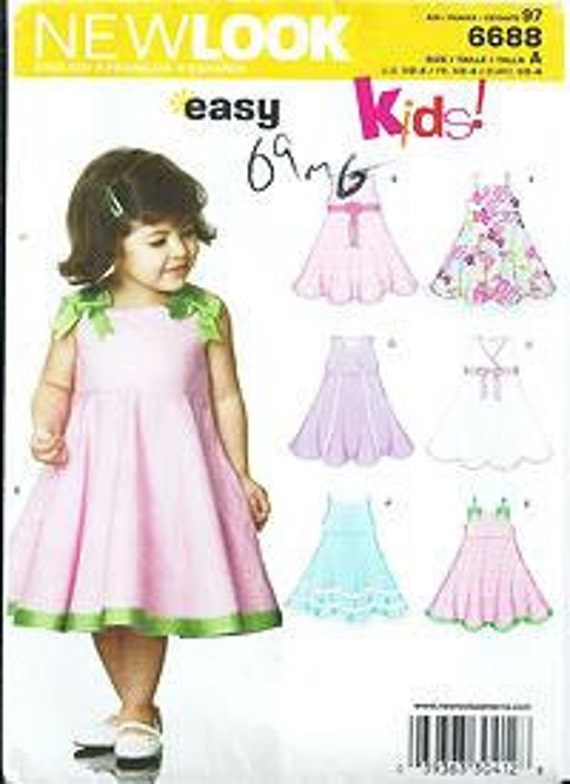 New Look 6688 KIDS Sewing Pattern Toddler/Child\'s Flare | Etsy