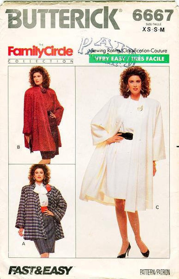 Sz XS/Sml/Med Vintage Sewing Pattern Butterick 6667 | Etsy