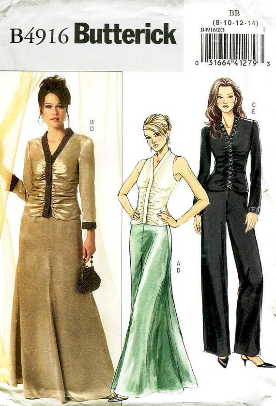 Sz 40404040 Butterick Pattern B40 Misses' Ruched Etsy Impressive Butterick Patterns