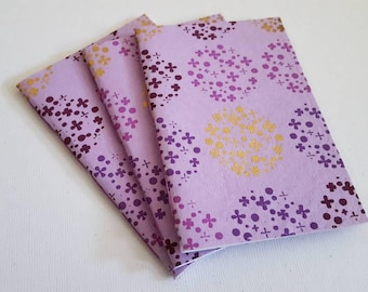 Pamphlet Stitched Mini Notebooks- 3 Pack