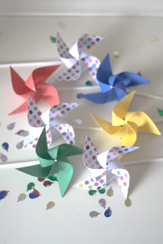 Sesame Street Inspired Party Decor 12 Mini Spinning Pinwheels Sesame