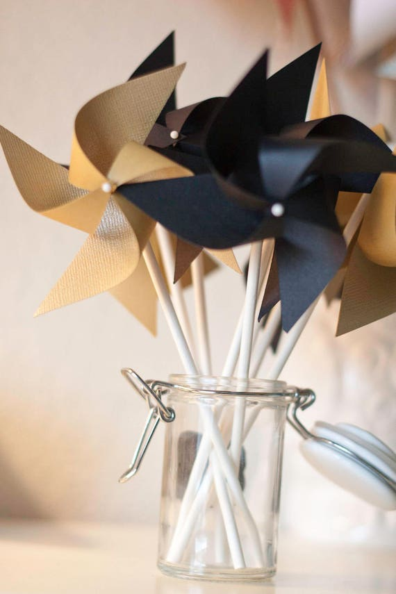 Gold And Black Wedding Black And Gold Party Favor Black And Etsy
