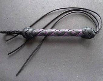 Purple/Black 3-cord Leather Stinger