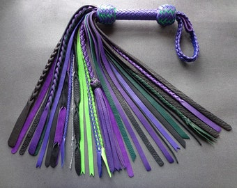 One-of-a-kind Chaos Flogger - Purple / Green / Black