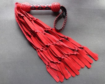 Twisted Red Suede and Black Flogger - Thuddy