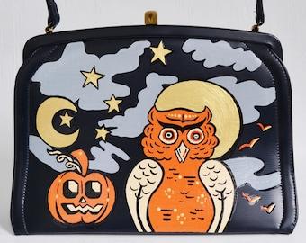 All Hallow's Eve Handbag, Vintage and Upcycled
