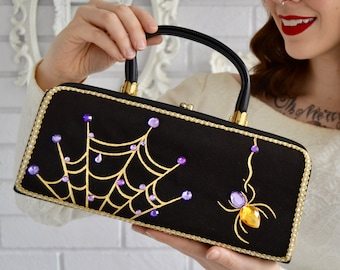 Caught in Your Web Handbag, Vintage and Upcycled