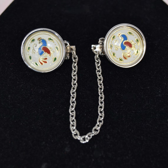 Vintage 1960s Sweater Clip with Ausable Chasm NY Charm in Original Sales Box