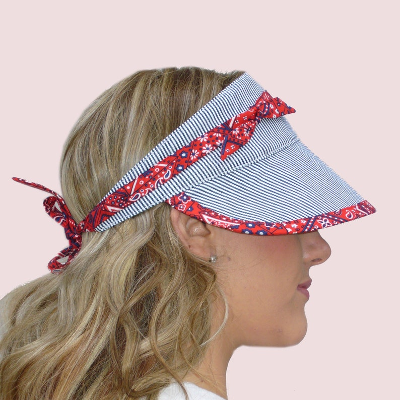 0fd62aae681 SEWING PATTERNS  Sun Visors With Ties Fitted and Floppy