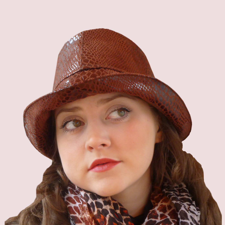 SEWING PATTERN Snakeskin Fedora Rain Hat or Wide Brim Bucket  50a5ec4f4b0