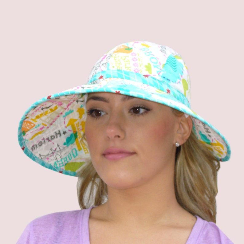 657757d9151 SEWING PATTERN  Wide Brim Floppy Sun Hat in Cotton with
