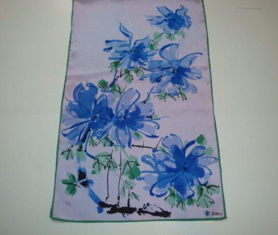 Vera Scarf Vera Neumann ObLong Silk Scarf Purple A