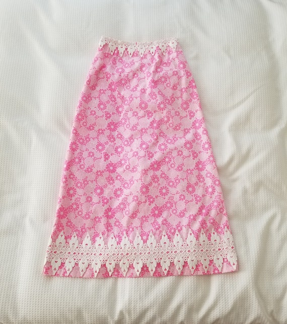 Vintage Lilly Pulitzer Maxi Skirt Long Skirt Hoste